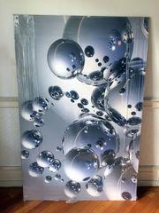 Bild Bubbles Kunstdruck auf Holzplatte