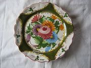 handbemalter Wandteller Blumenmotiv Porzellan-Teller Ø