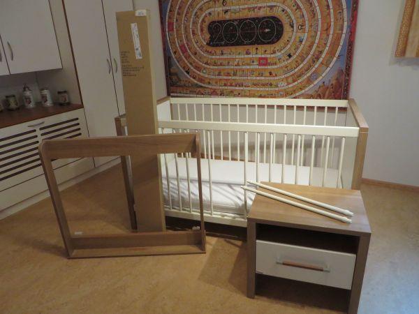 Top PAIDI Babybett / Kinderbett 'Rico' mit umfangreichem Zubehör in PV82