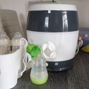 Sterilisator Vaporisator mit Milchpumpe Flaschen