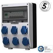 Stromverteiler 6x230V pTD-S FI mit
