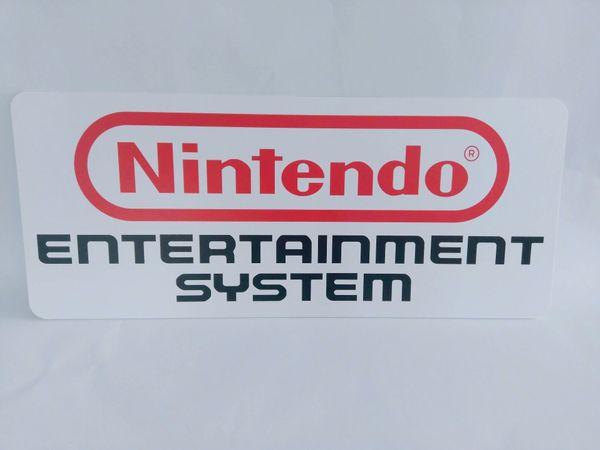 Nintendo NES Werbeschild Kunststoff Weiß