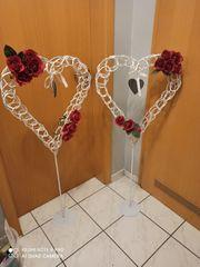 Stand Herzen Hochzeit 2 Stück