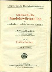 Langenscheidts Handelswörterbuch der englischen und