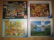 4 Ravensburger Schmidt Puzzle zu