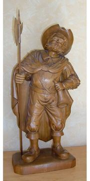 Holzfigur Soldat Nachtwächter 61 cm