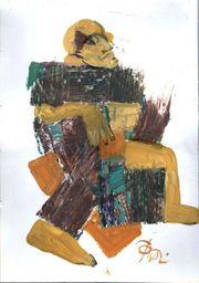 Russische Malerei Öl auf Papier