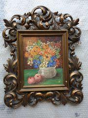 Blumen-Bild incl Rahmen