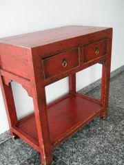 Beistelltisch antik rot Unikat