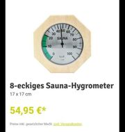 Eliga Hygrometer Sauna Luftfeuchtigkeitsmesser Holz