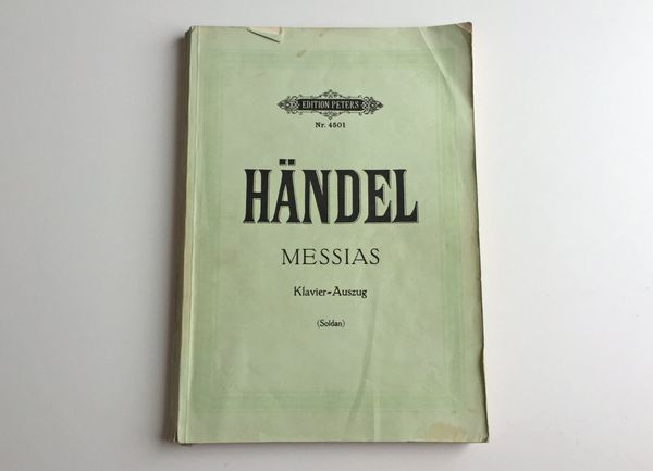 Noten Messias von Händel - Klavier-Auszug