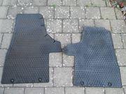 Gummi-Fußmatten Volkswagen schwarz vorne hinten