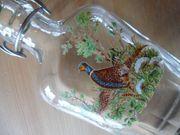 Flachmann mit Jagdmotiv Trinkflasche Glasflachmann