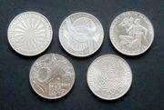 10 DM Silber Münzen Olympiade