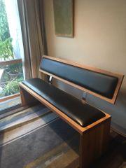 Sitzbank Nussbaum massiv geölt und