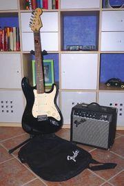 E-Gitarren Set - Fender Squier Affinity