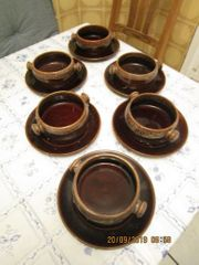 Suppentassen mit Unterteller