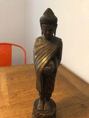 Deko Holzbuddha aus Thailand 40cm