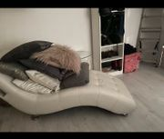 Relaxsessel weiss Leder mit Musik