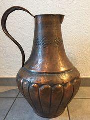 Bodenvase Kupferkanne Kupfervase Vase Krug