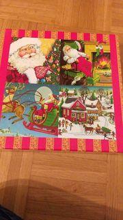Vollständiges Puzzle mit verschiedenen Weihnachtsmotiven