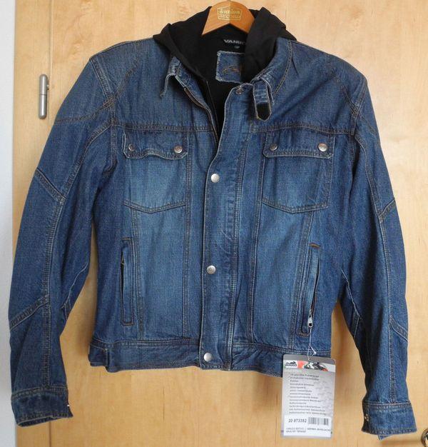 d70e021e34523d Herren-Motorradjacke Größe 52; Vanucci ESTIVO; Jeans mit Kapuze; Neu ...