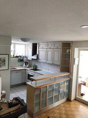 Küche U-Form mit Theke Massivholz