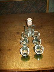 6 Miniatur Weingläser mit mini