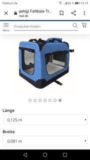 Hundetransportbox Faltbar Blau