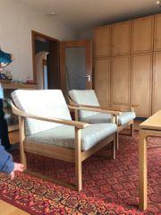 retro Sessel Couchtisch und Sofa