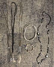 Modeschmuck - Ketten Armbänder sowie Halstücher - Seidentuch