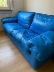 Duvivier Canape Designer-Sofa blau