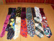 15 Stück Herren Krawatten bunt