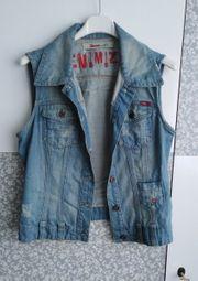 Jeans Weste Gr L