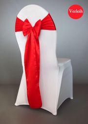 rote Satin Stuhlschleifen verleih Stuhlbänder