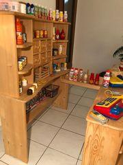 Kaufladen Kaufmannsladen Holz TOP gebraucht