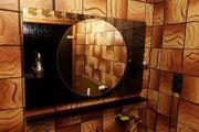 Spiegel Badezimmerspiegel mit Beleuchtung Messing
