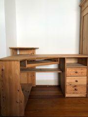 Eck-Schreibtisch aus Holz