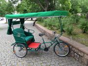 Rikscha Rikschataxi Fahrradtaxi Lastenrad Lastenfahrrad