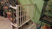 Treppengitter Treppenschutz weiß aus Holz