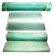 Glasplatten 36 verschieden große schmale -