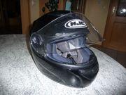 HJC Integralhelm Motorrad Helm schwarz
