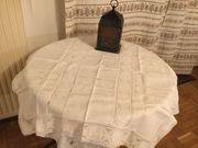 Tischdecke 93x93cm TOP Qualität Baumwolle-Leinen