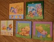 5 schöne Wandbilder Winnie Pooh