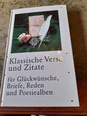 Buch Klassische Verse und Zitate