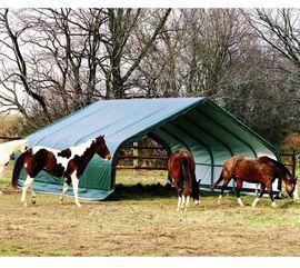 Pferdeboxen, Stellplätze - Unterstand und Weidezelt in xxl