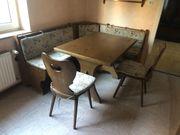 aufklappbare Eckbank mit Tisch 2
