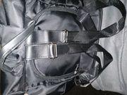 Kl schwarzer Rucksack Stoff Diebstahlschutz