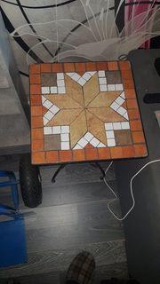 Mosaik Beistelltisch mehrfarbig