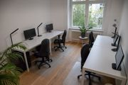 Coworking Bürozimmer 2 Schreibtischplätze Untermiete